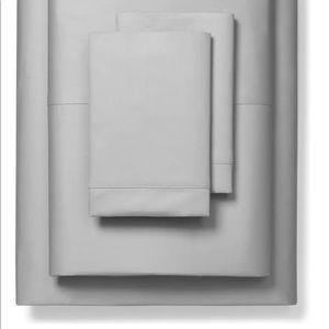 Boll & Branch classic hemmed grey queen sheet set